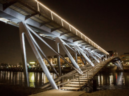 FOOTBRIDGE OVER THE RHONE